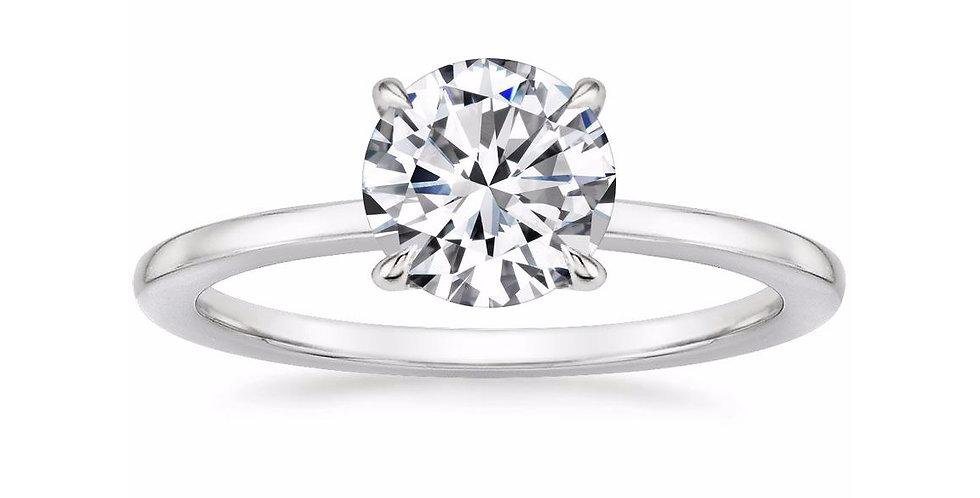 """LEONA"" ROUND DIAMOND ENGAGEMENT RING"