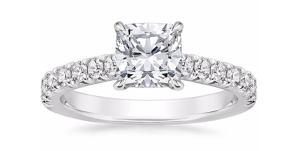 """LOUISA"" CUSHION DIAMOND SOLITAIRE ENGAGEMENT RING"