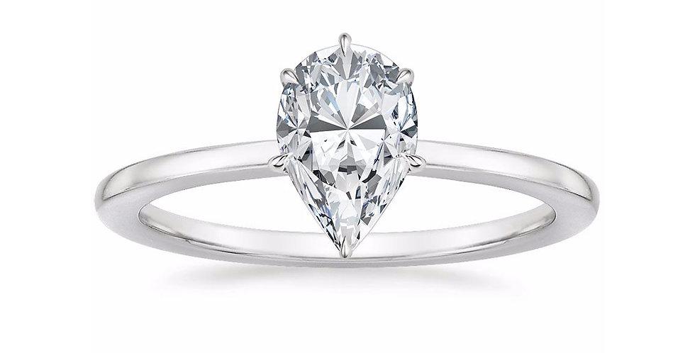 """LEONA"" PEAR DIAMOND ENGAGEMENT RING"