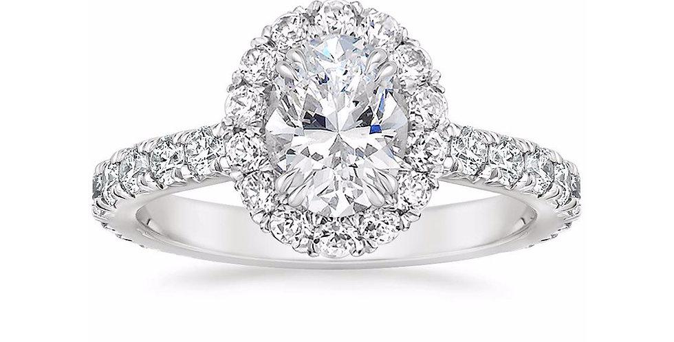 """LOUISA"" OVAL DIAMOND HALO ENGAGEMENT RING"