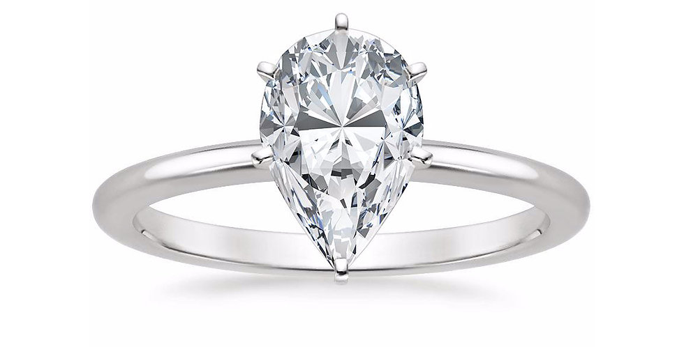 PEAR DIAMOND SIX-PRONG SOLITAIRE ENGAGEMENT RING