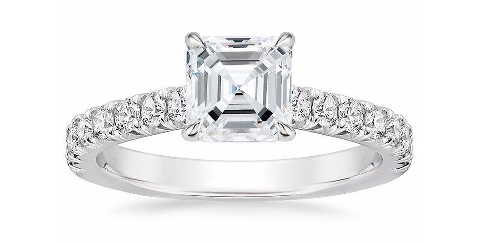 """""""LOUISA"""" ASSCHER DIAMOND SOLITAIRE ENGAGEMENT RING"""