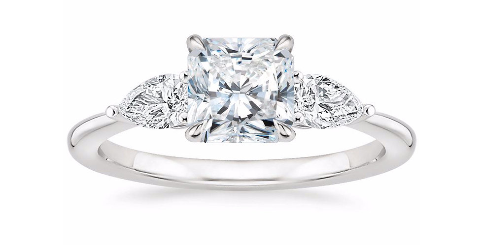 """LAYLA"" RADIANT DIAMOND THREE STONE ENGAGEMENT RING"