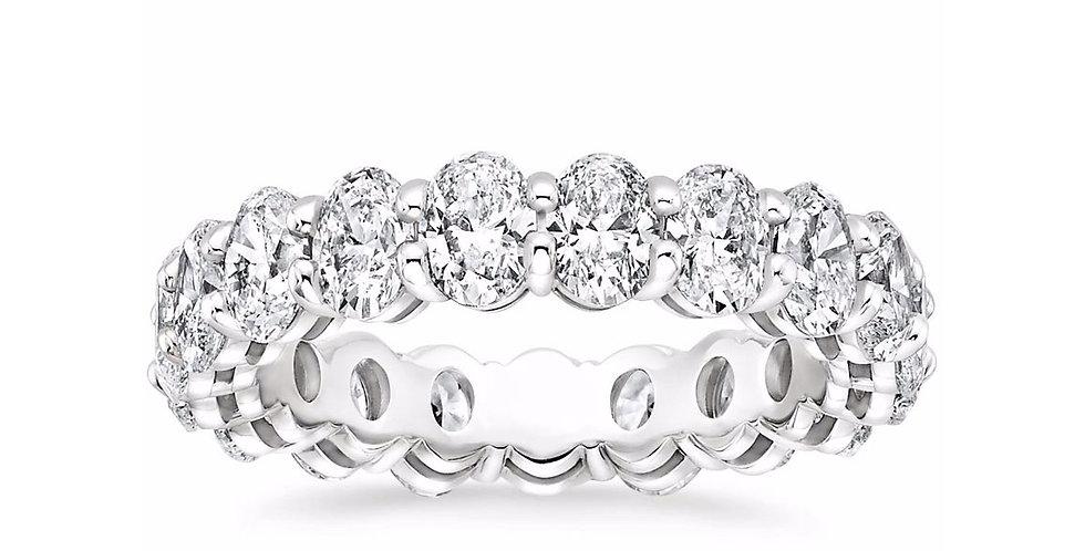 """ELLA"" OVAL DIAMOND ETERNITY RING (4 CTW)"