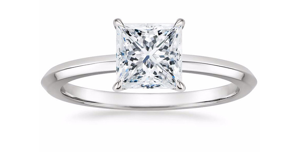 """LORRAINE"" PRINCESS DIAMOND KNIFE EDGE ENGAGEMENT RING"