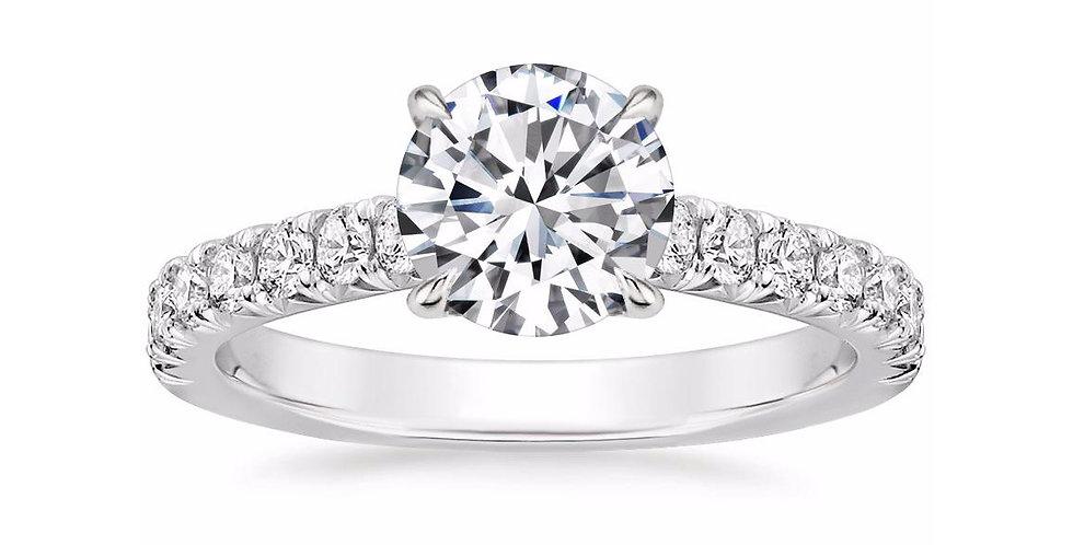 Round Solitaire Diamond Louisa Engagement Ring