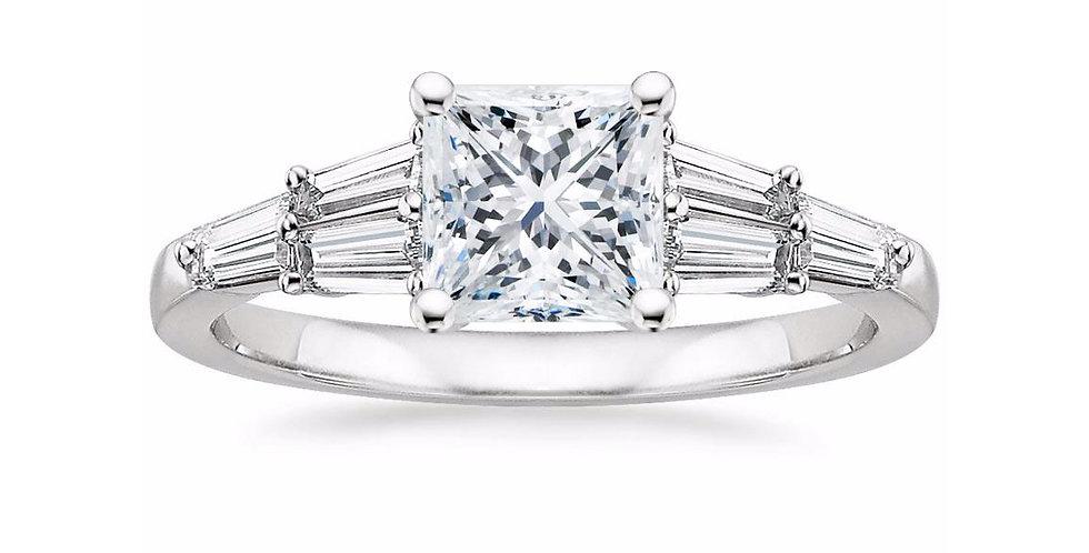 """LEA"" PRINCESS DIAMOND DESIGNER ENGAGEMENT RING"