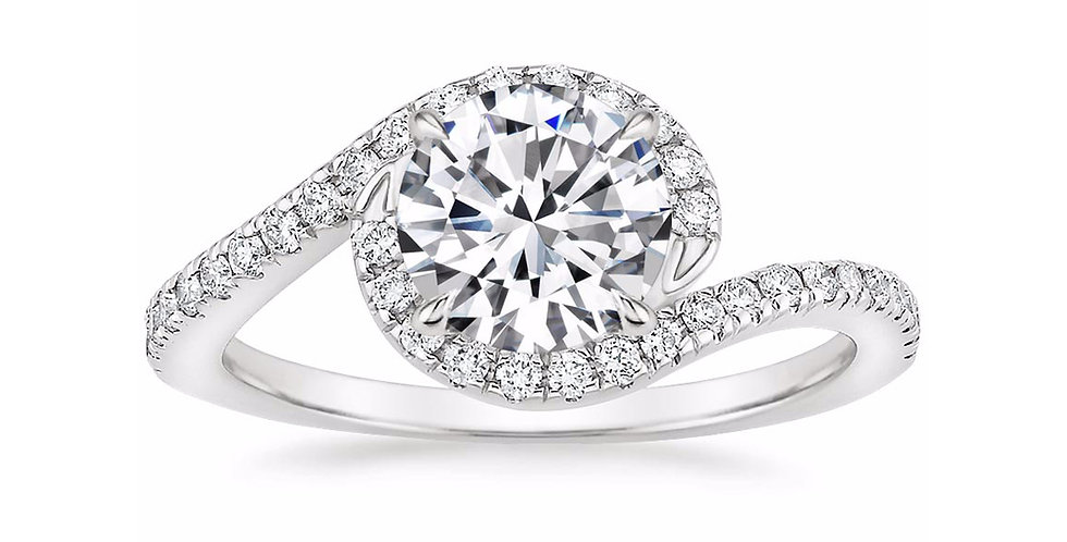 """LEONA"" ROUND DIAMOND DESIGNER ENGAGEMENT RING"