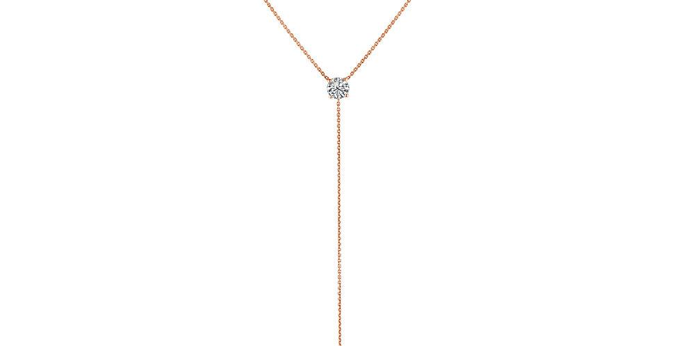 Diamond Solitaire Pendant Kayla Necklace