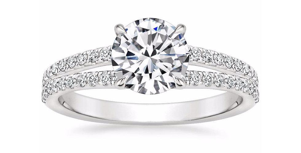"""LUISA"" ROUND DIAMOND SPLIT SHANK ENGAGEMENT RING"