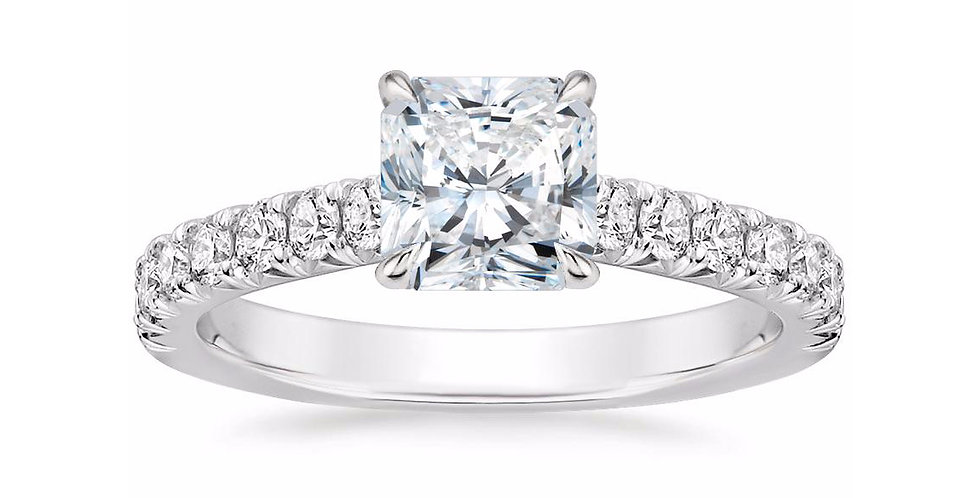 """LOUISA"" RADIANT DIAMOND SOLITAIRE ENGAGEMENT RING"