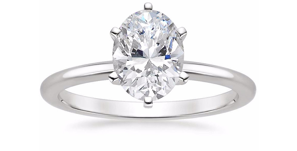 OVAL DIAMOND SIX-PRONG SOLITAIRE ENGAGEMENT RING