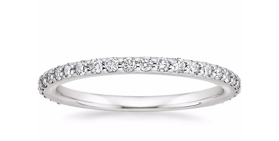 """AVA"" SHARED PRONG DIAMOND ETERNITY RING (3/8 CTW)"
