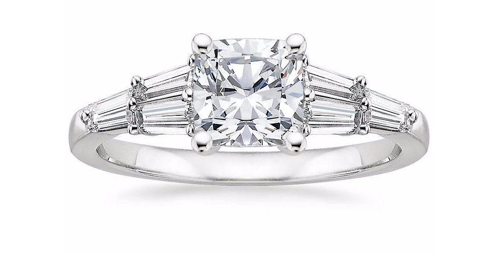 """LEA"" CUSHION DIAMOND DESIGNER ENGAGEMENT RING"
