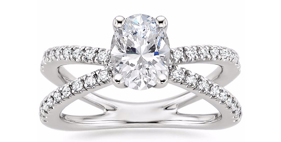 """LAURA"" OVAL DIAMOND DESIGNER ENGAGEMENT RING"