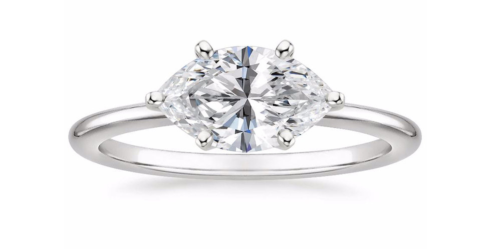 """LAUREN"" MARQUISE DIAMOND EAST-WEST ENGAGEMENT RING"