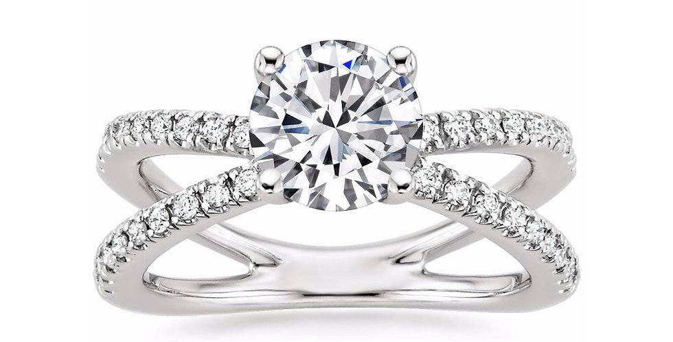 """LAURA"" ROUND DIAMOND DESIGNER ENGAGEMENT RING"