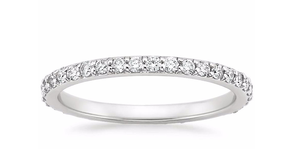 """AVA"" SHARED PRONG DIAMOND ETERNITY RING (1/2 CTW)"