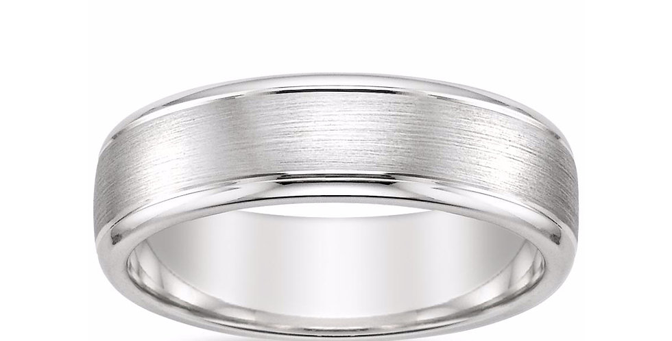 """LOGAN"" BEVELED EDGE WEDDING RING (6 MM)"