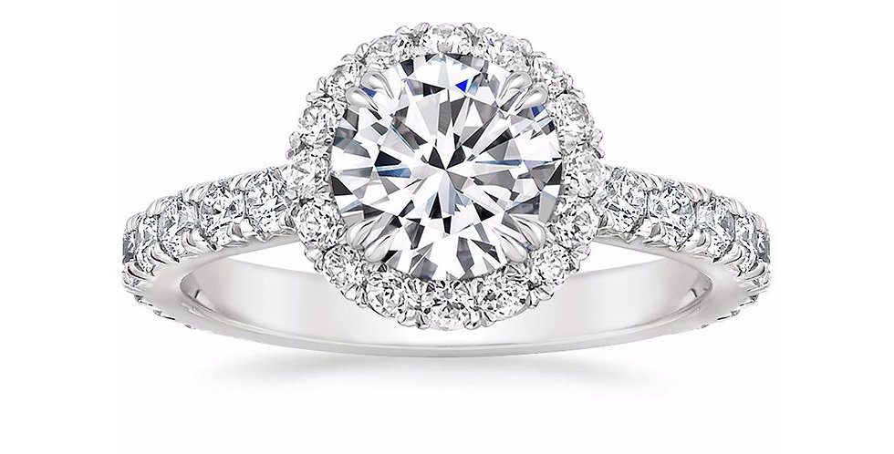 """LOUISA"" ROUND DIAMOND HALO ENGAGEMENT RING"