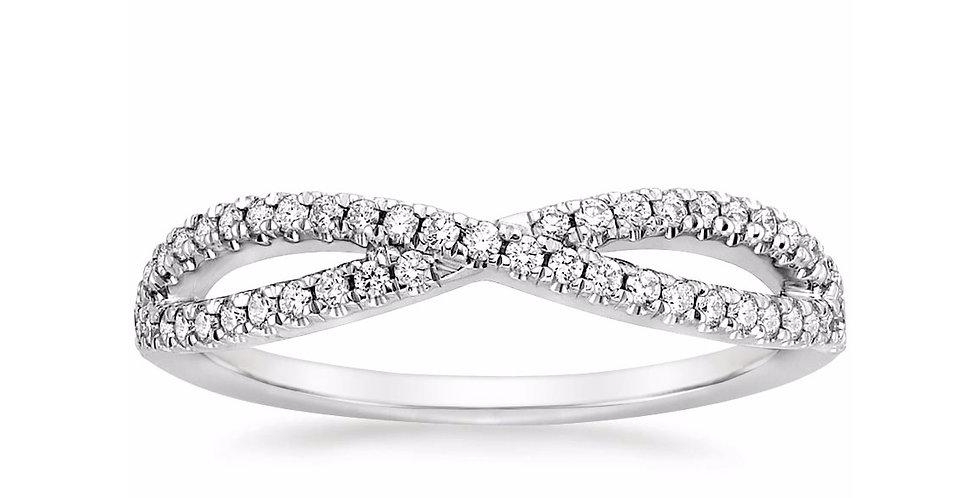 """SERENITY"" DIAMOND WEDDING RING"