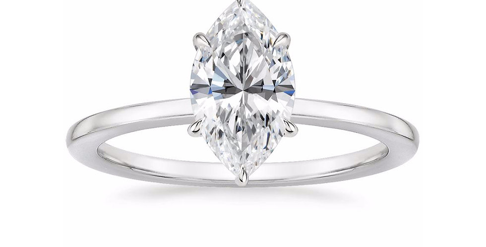"""LEONA"" MARQUISE DIAMOND ENGAGEMENT RING"