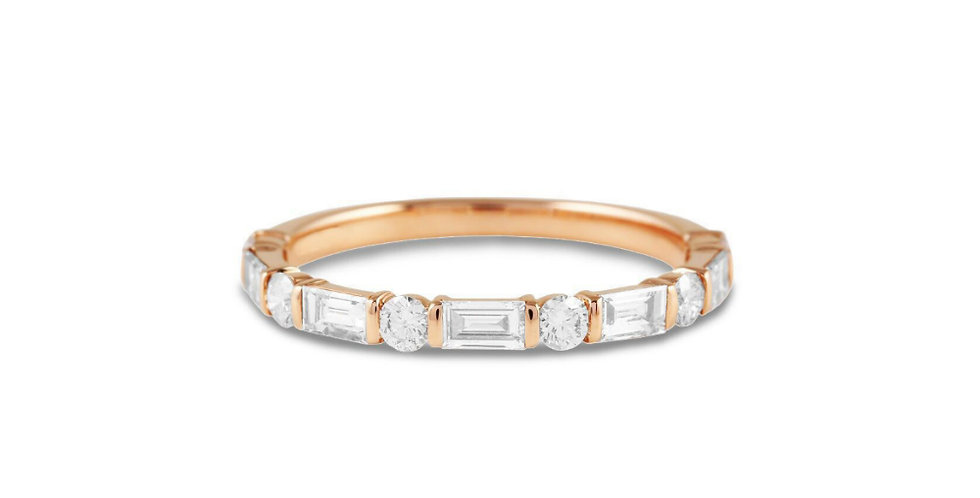 """LAYLA"" ROUND & BAGUETTE DIAMOND RING"