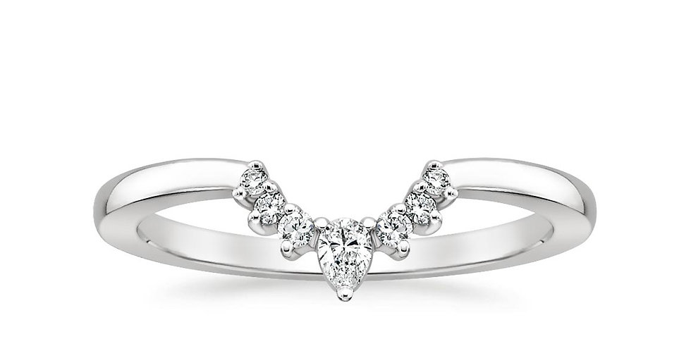 """ALLISON"" CRESCENT DIAMOND WEDDING RING"