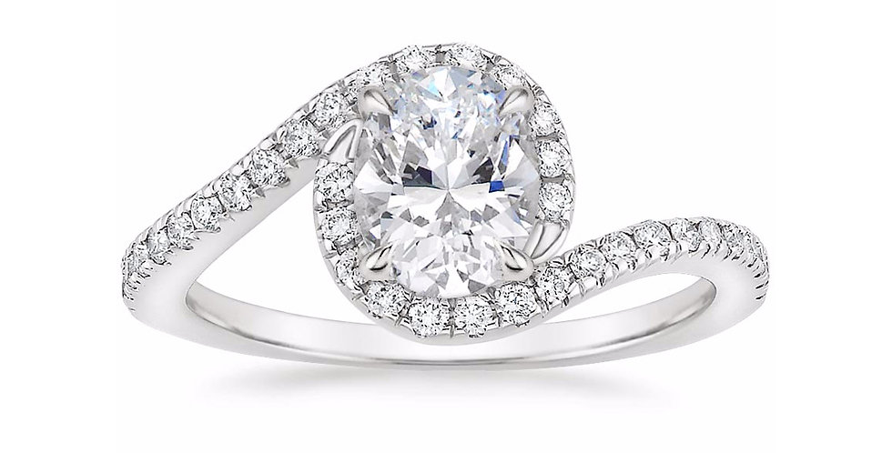 """LEONA"" OVAL DIAMOND DESIGNER ENGAGEMENT RING"