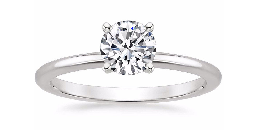 ROUND DIAMOND FOUR-PRONG SOLITAIRE ENGAGEMENT RING