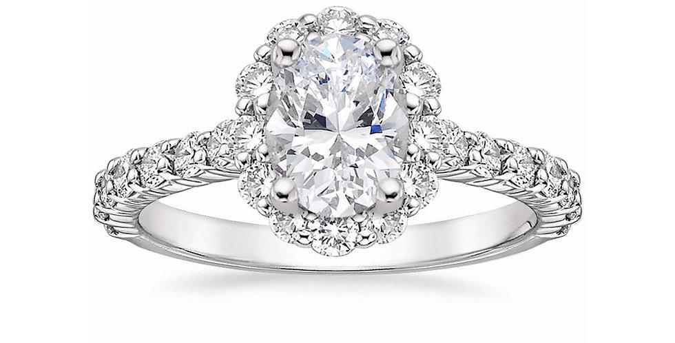 """LANA"" OVAL DIAMOND HALO ENGAGEMENT RING"