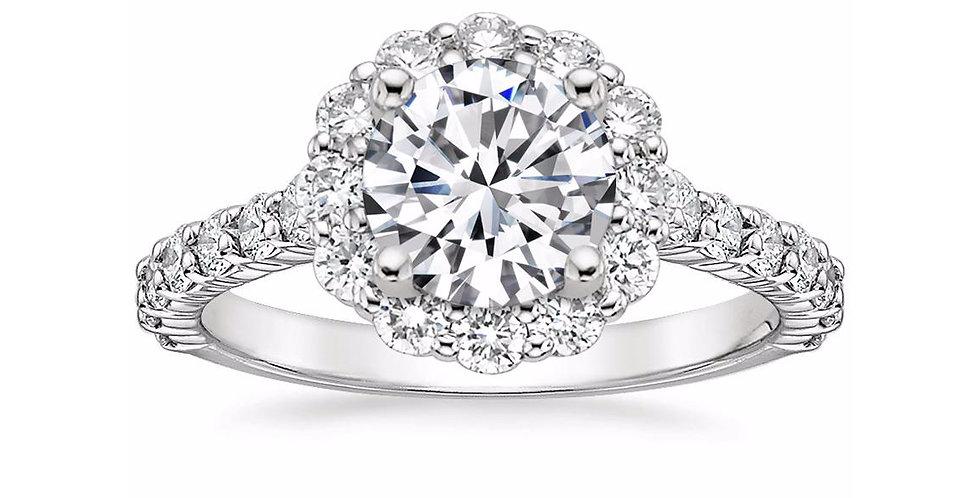 """LANA"" ROUND DIAMOND HALO ENGAGEMENT RING"