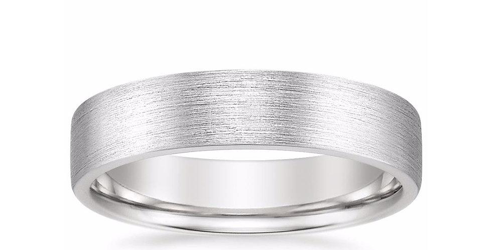 """""""AIDEN"""" MATTE WEDDING RING (5 MM)"""