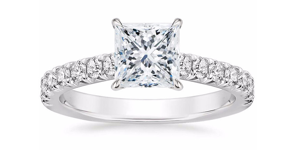 """LOUISA"" PRINCESS DIAMOND SOLITAIRE ENGAGEMENT RING"