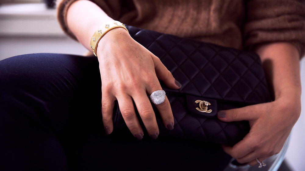 Custom Design Diamond Pave Cocktail Ring
