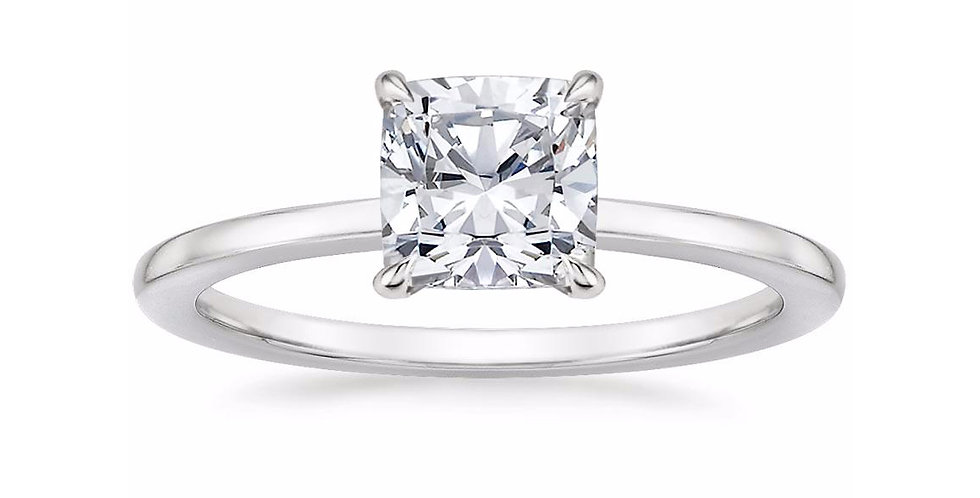 """LEONA"" CUSHION DIAMOND ENGAGEMENT RING"