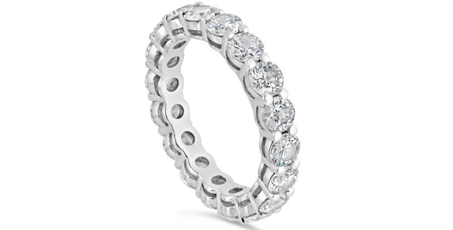 """""""KAROLIN"""" ROUND DIAMOND ETERNITY RING"""