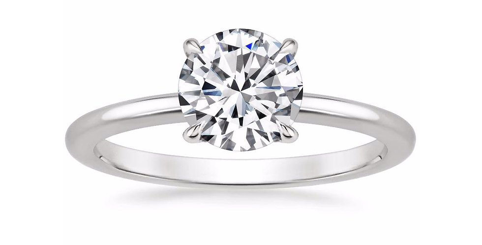 """LIA"" ROUND DIAMOND SECRET HALO ENGAGEMENT RING"
