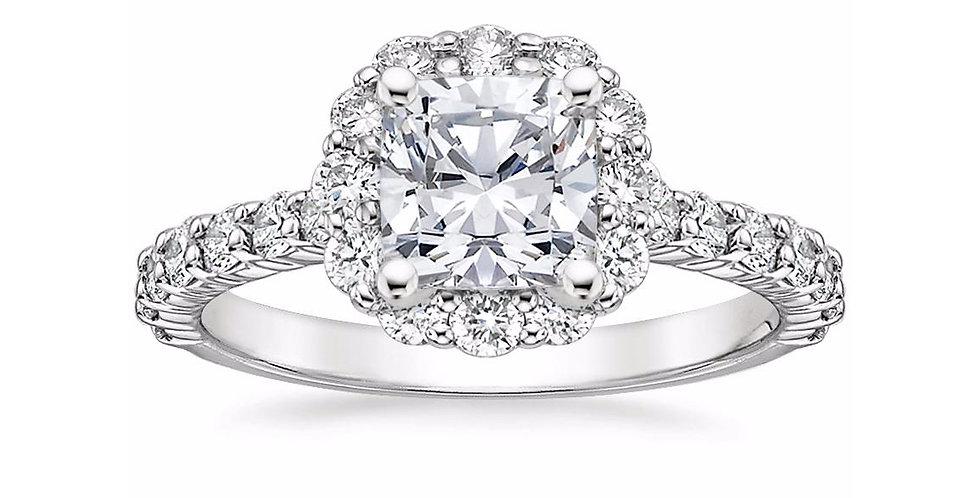 """""""LANA"""" CUSHION DIAMOND HALO ENGAGEMENT RING"""