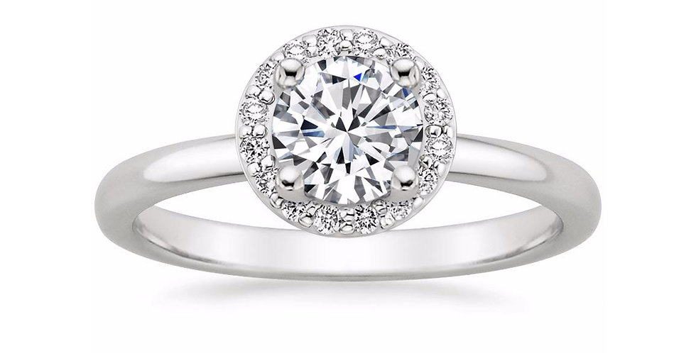 """LEXI"" ROUND DIAMOND HALO ENGAGEMENT RING"