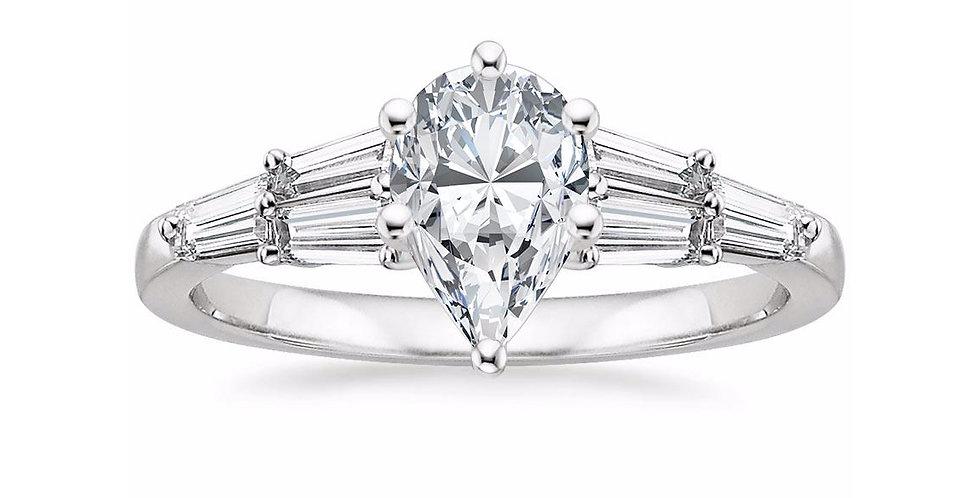 """LEA"" PEAR DIAMOND DESIGNER ENGAGEMENT RING"
