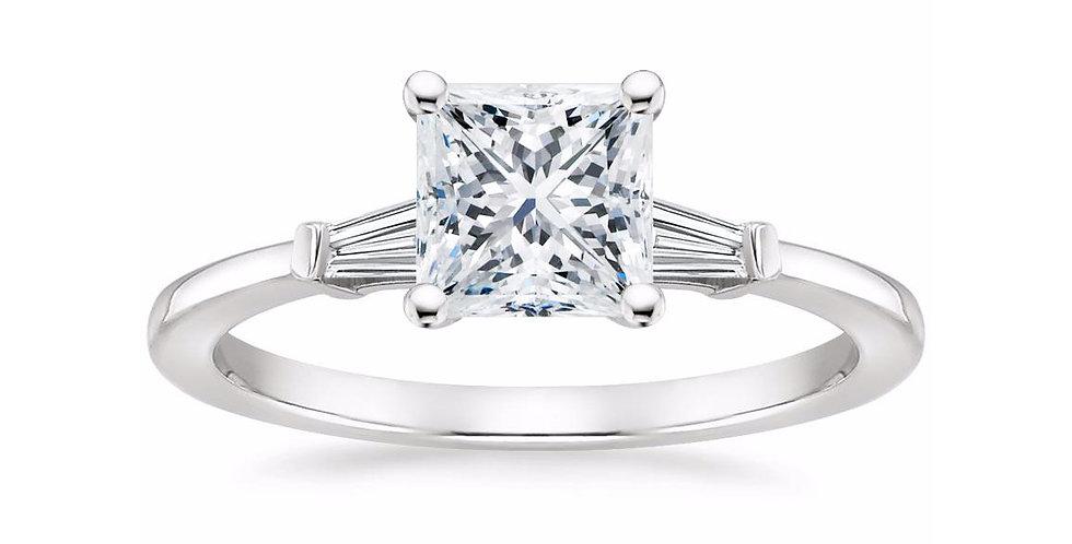 """LIV"" PRINCESS DIAMOND THREE STONE ENGAGEMENT RING"