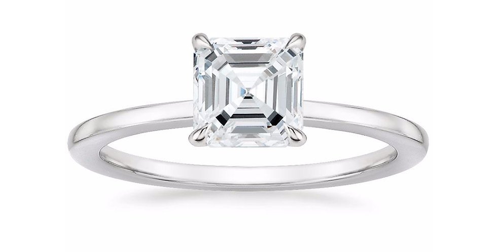 """LEONA"" ASSCHER DIAMOND ENGAGEMENT RING"