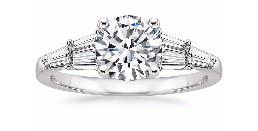 """""""LEA"""" ROUND DIAMOND DESIGNER ENGAGEMENT RING"""
