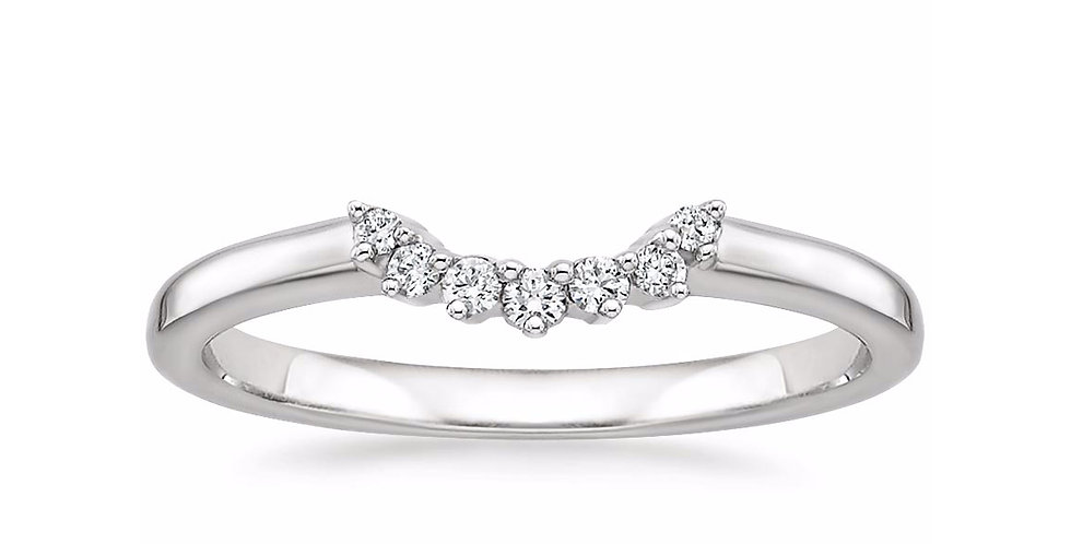 """CHLOE"" CRESCENT DIAMOND WEDDING RING"