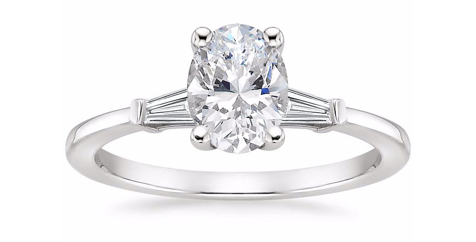 """LIV"" OVAL DIAMOND THREE STONE ENGAGEMENT RING"