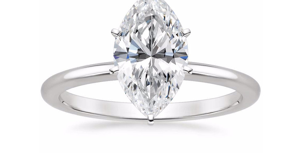 MARQUISE DIAMOND SIX-PRONG SOLITAIRE ENGAGEMENT RING