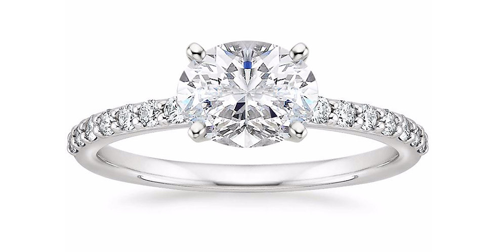 """""""LYDIA"""" OVAL DIAMOND EAST-WEST ENGAGEMENT RING"""