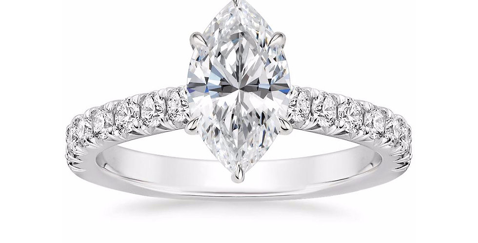 """LOUISA"" MARQUISE DIAMOND SOLITAIRE ENGAGEMENT RING"