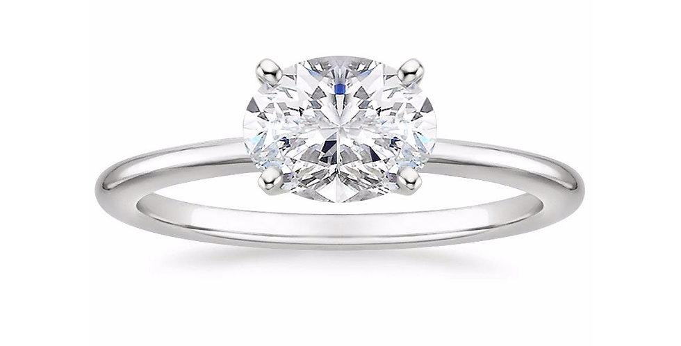 """LAUREN"" OVAL DIAMOND EAST-WEST ENGAGEMENT RING"